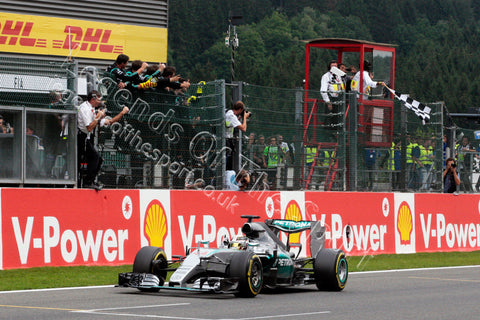 Formula 1 Print -  Lewis Hamilton Spa Francorchamps 2015 - Legends Of The Sport