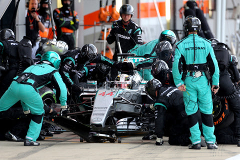 Limited Edition Formula 1 Print - Lewis Hamilton Pit Stop Lap 43 Silverstone 2015 - Legends Of The Sport