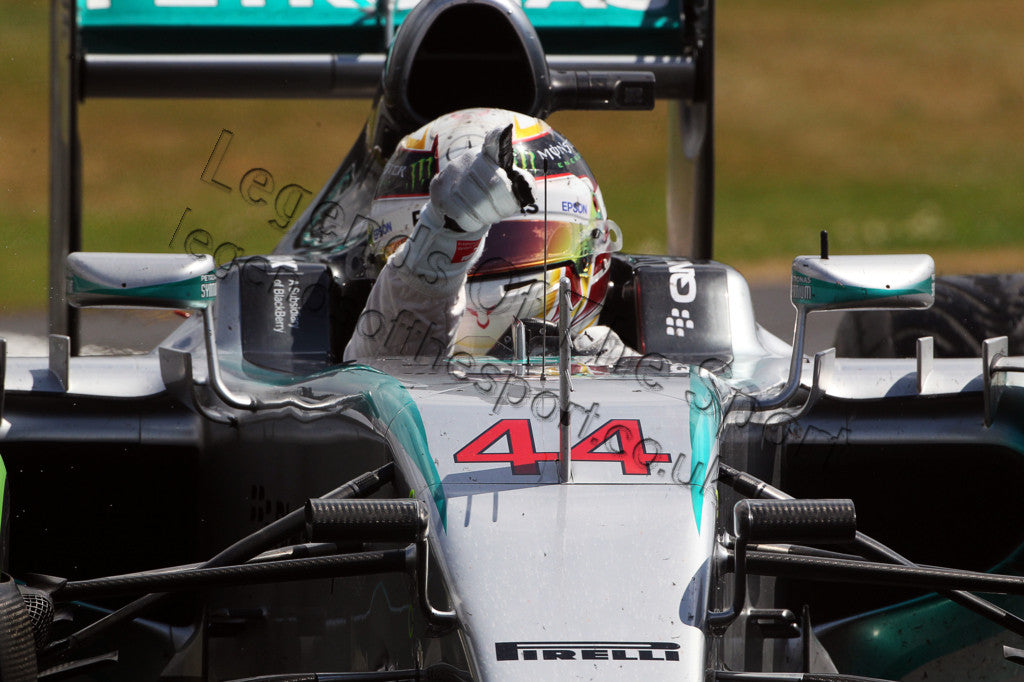 Limited Edition Formula 1 Print - Lewis Hamilton End Of Race Silverstone 2015 - Legends Of The Sport