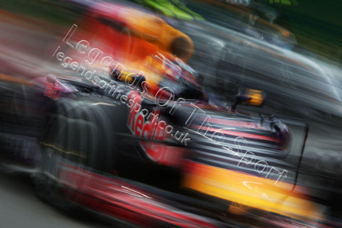Formula 1 Print - 2015 Italian GP Daniil Kvyat (RUS) Red Bull Racing RB11 Friday 4th September 2015 Monza - Legends Of The Sport