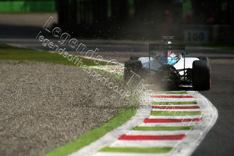Formula 1 Print - 2015 Italian GP Felipe Massa (BRA) Williams FW37 Friday 4th September 2015 Monza - Legends Of The Sport