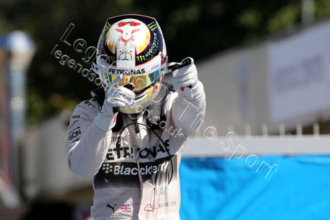 Formula 1 Print - 2015 Italian GP Race Winner Lewis Hamilton (GBR) Mercedes AMG F1 celebrates in parc ferme Sunday 6th September 2015 Monza - Legends Of The Sport