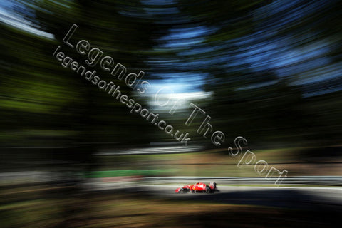 Formula 1 Print - 2015 Italian GP Sebastian Vettel (GER) Ferrari SF15-T Saturday 5th September 2015 Monza - Legends Of The Sport
