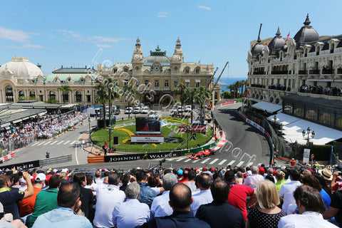 Formula 1 Print - Monaco GP Sebastian Vettel GER Ferrari SF15-T Sunday 24th May 2015 Monte Carlo Monaco - Legends Of The Sport