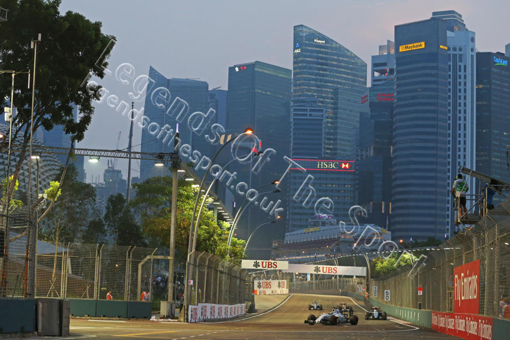 Formula 1 Print - 2015 Singapore GP Felipe Massa (BRA) Williams FW37 Sat 19-09 Marina Bay - Legends Of The Sport
