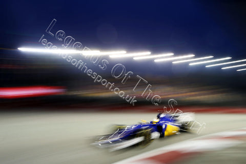Formula 1 Print - 2015 Singapore GP Marcus Ericsson (SWE) Sauber C34 Fri 18-09 Marina Bay - Legends Of The Sport
