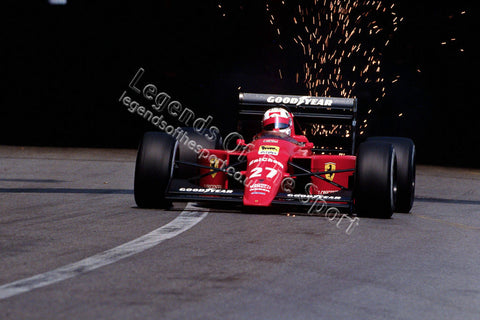 Formula 1 Print 1989 - Nigel Mansell driving a Scuderia SpA SEFAC Ferrari-640 at the 1989 Monaco Grand Prix in Monte Carlo - Legends Of The Sport
