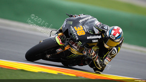MotoGP Print - 2013 MotoGP Bradley Smith 38 racing for Monster Yamaha 02 - Legends Of The Sport
