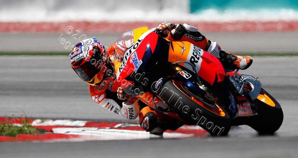MotoGP Print - 2012 MotoGP Casey Stoner 27 Original 23 - Legends Of The Sport