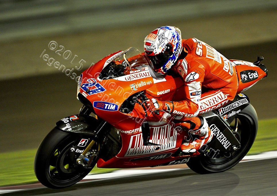 MotoGP Print - 2012 MotoGP Casey Stoner 27 Original 24 - Legends Of The Sport