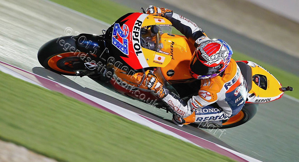 MotoGP Print - 2012 MotoGP Casey Stoner 27 Original 25 - Legends Of The Sport