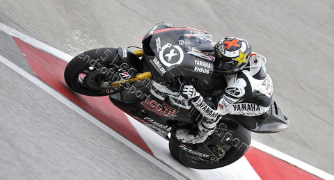 MotoGP Print - 2012 MotoGP Jorge Lorenzo Black Yamaha 20 03 - Legends Of The Sport