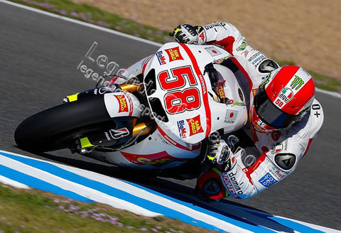 MotoGP Print - MotoGP Marco Simoncelli Honda 58 0338 P14 Front Action Left 06 - Legends Of The Sport