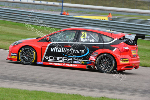 WTC Print - BTCC Rockingham Raceway 5&6 September 2015 Mike Bushell Ford Focus - Legends Of The Sport