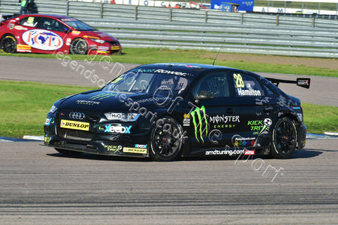 WTC Print - BTCC Rockingham Raceway 5&6 September 2015 Nic Hamilton Audi-A4 - Legends Of The Sport