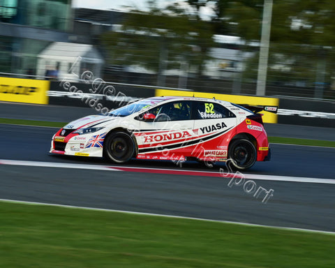 WTC 2015 BTCC Silverstone 26 27 September 2015 Gordon Shedden Honda Civic Type-R CM11 0121 - Legends Of The Sport