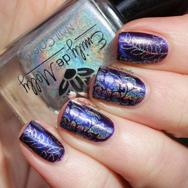 Silver Holo - stamping polish - 12ml