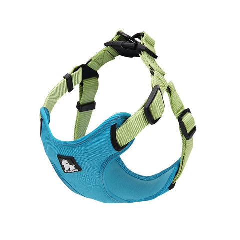 PetsUp Nylon Dog Harness for Large Medium Small Puppy Dogs  Color-Sea-Blue