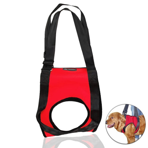 Front Carrier Lift Harness For Elderly Dogs Red