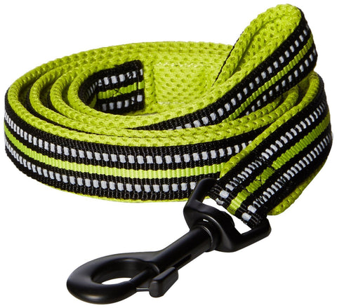 Padded 3M Reflective Dog Leash 110cm Green