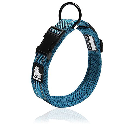 Reflective Stylish  Dog Collar Neck Belt Blue
