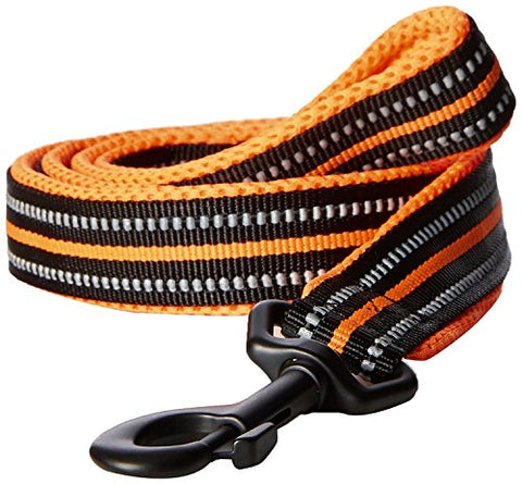 Padded 3M Reflective Leash 110cm (Orange)