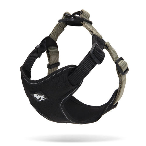 PetsUp Weighted Dog Harness for Large Medium Small Puppy Dogs (Black-Khaki)