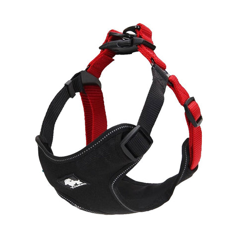 PetsUp Weighted Dog Harness for Large Medium Small Puppy Dogs (Black-Red)