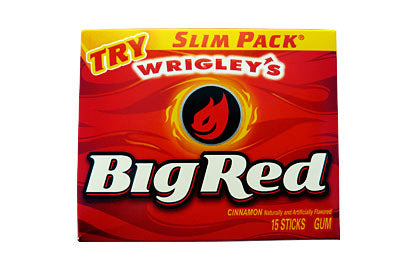 Big Red Cinnamon Chewing Gum (15 sticks)