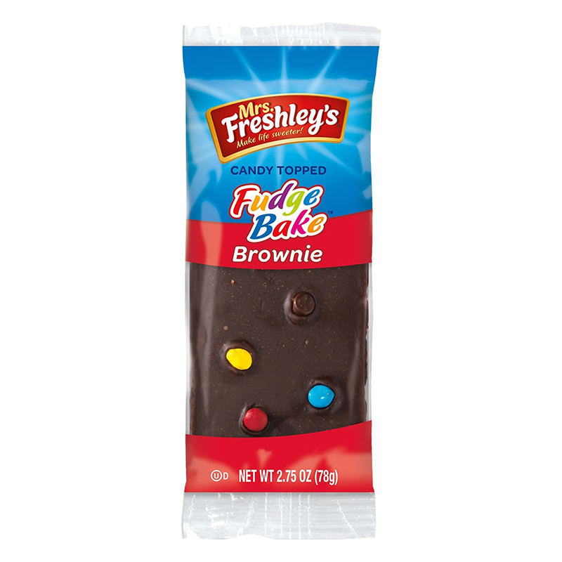 Mrs Freshley's Candy Topped Fudge Bake Brownie (78g)