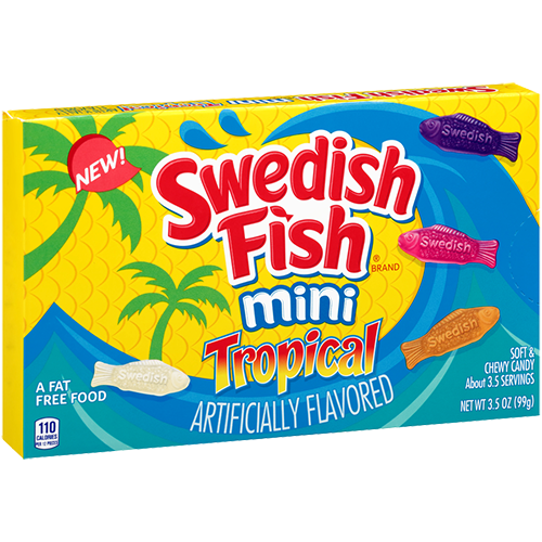 Swedish Fish Mini Tropical (99g)