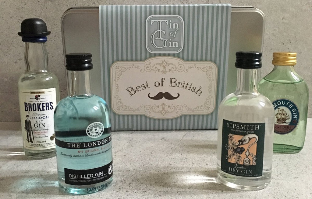 Tin of Gin Gift Set - Best of British Selection
