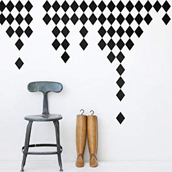 Ferm Living, harlequin, Wallstickers, sort og hvid