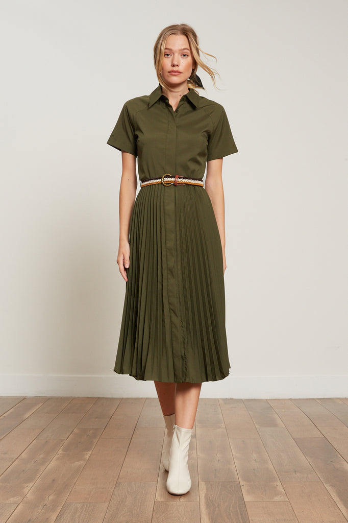 Olivia Pleated Dress