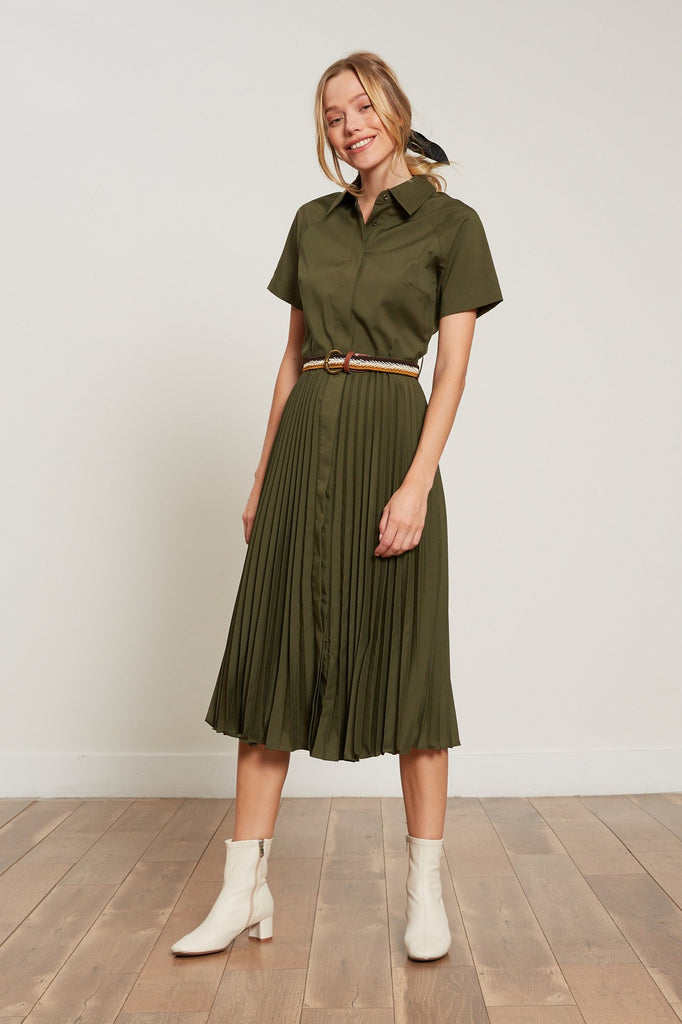 LUCY PARIS - Olivia Pleated Dress