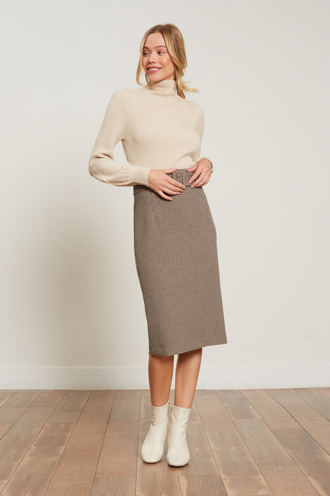 Phoebe Houndstooth Skirt