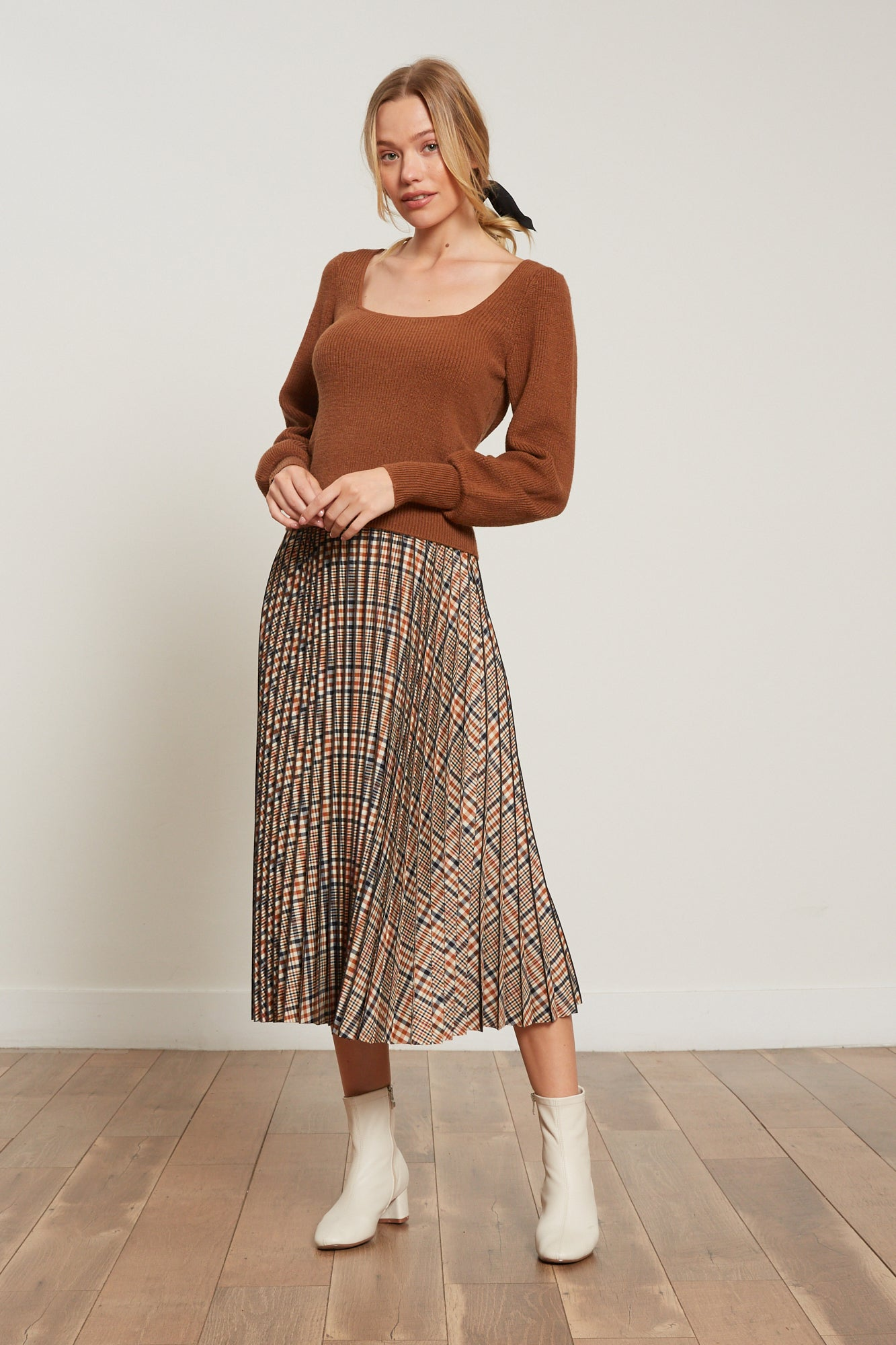Sadie Off the Shoulder Pleated Dress