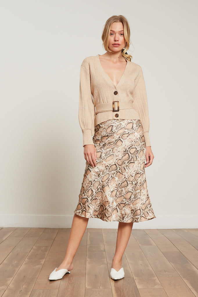 LUCY PARIS - Jane Snake Print Skirt