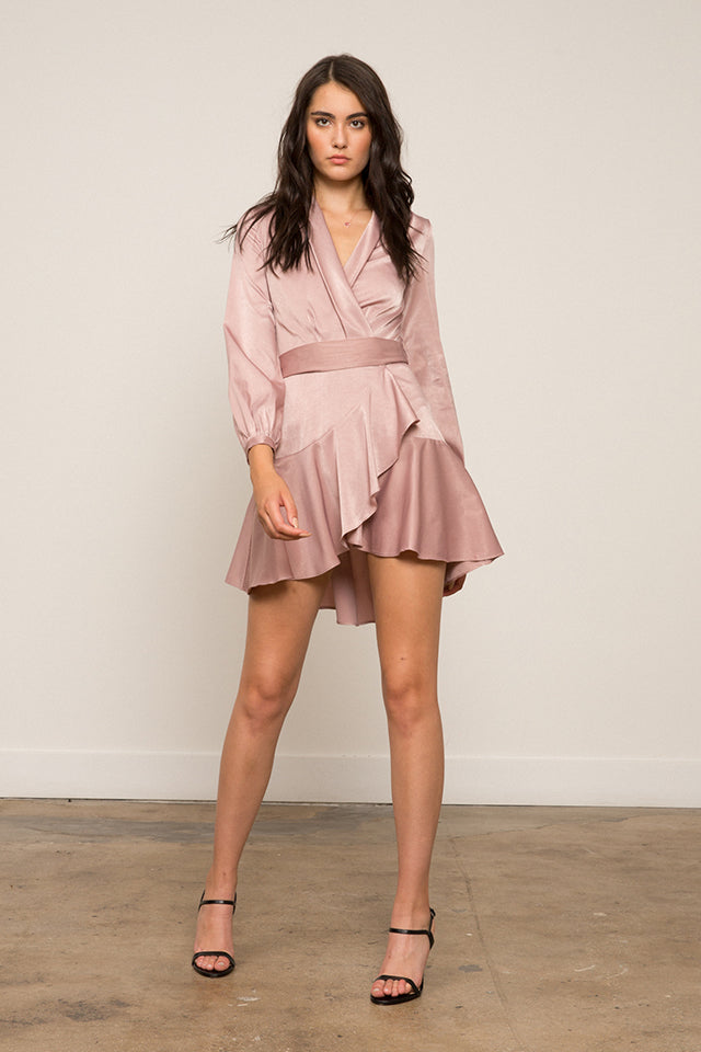 Lucy Paris - Sienna Silk Wrap Dress