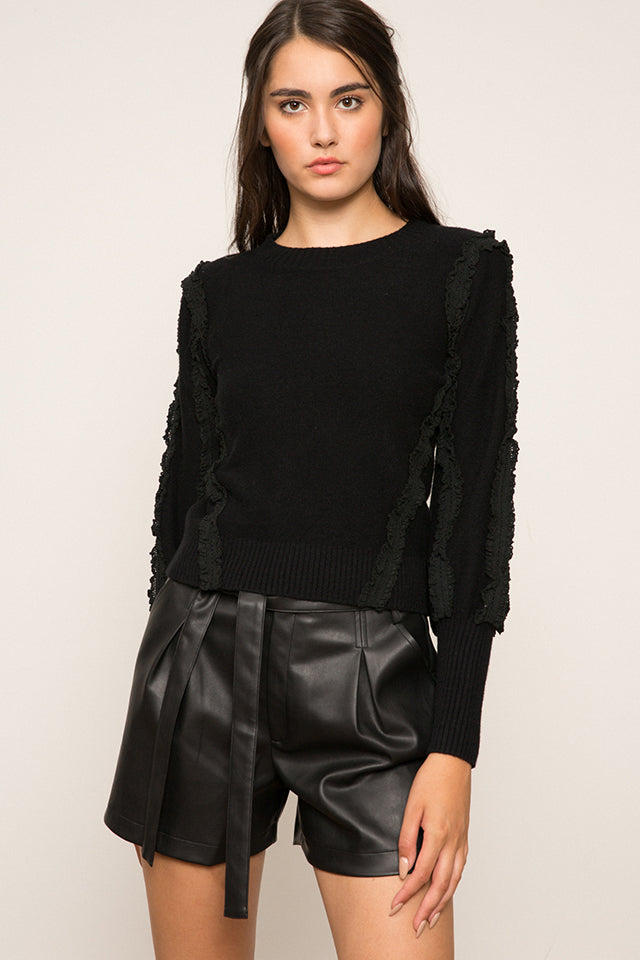 Lucy Paris - Rachel Ruffle Sleeve Sweater