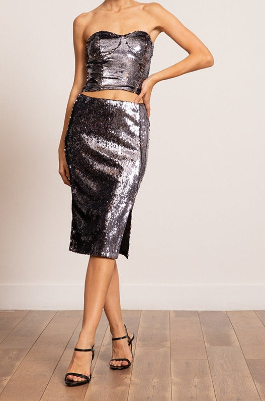 Lucy Paris- Jeanne Sequined Skirt