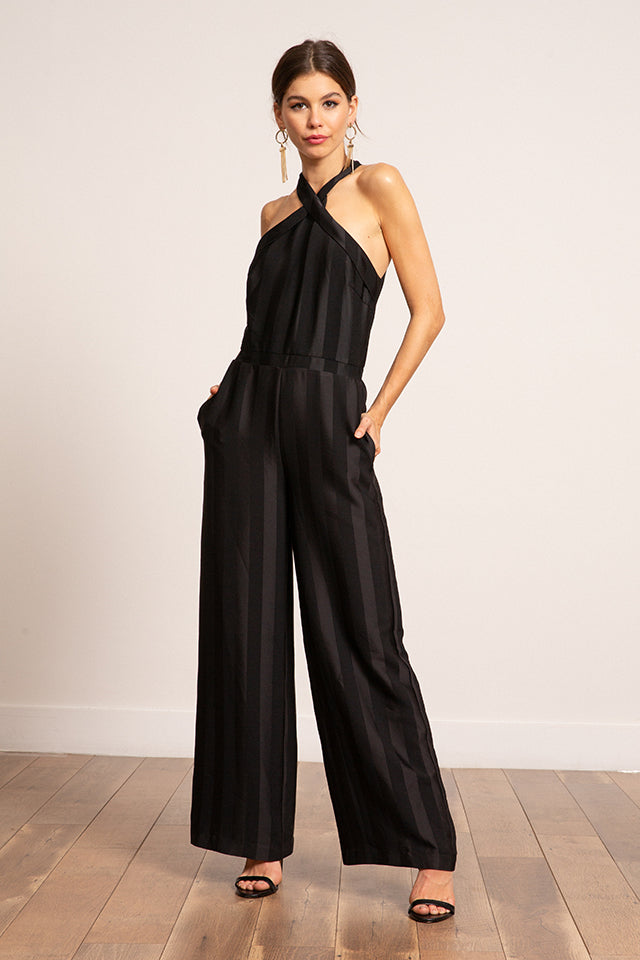 Lucy Paris - Chloe Cross Neck Jumpsuit