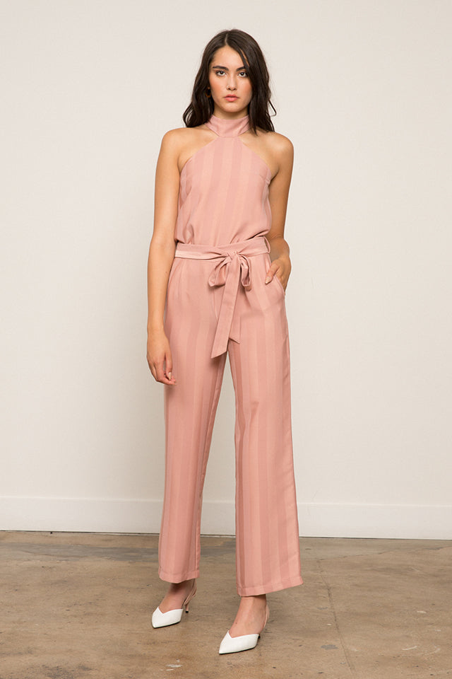 LUCY PARIS - Alice Striped Belted Pant