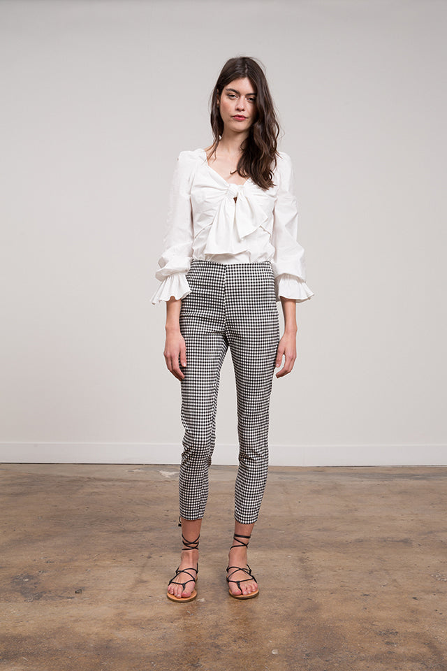 Lucy Paris - Madeline Gingham Stretch Pant