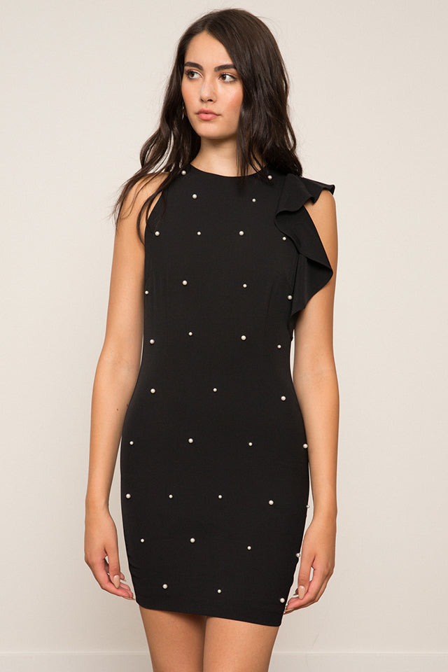 LUCY PARIS - Patricia Pearl Beaded Dress