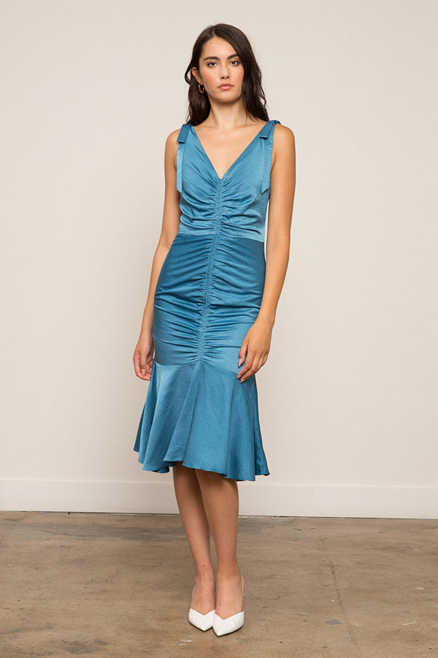 Adriana Ruched Tie Dress