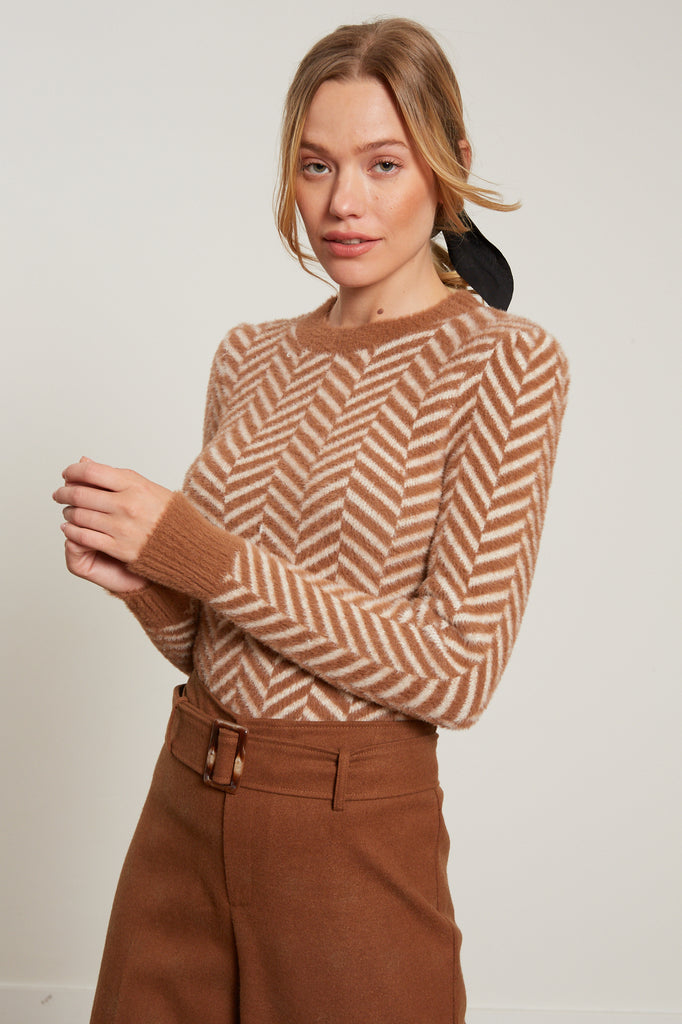 LUCY PARIS - Zoe Chevron Sweater