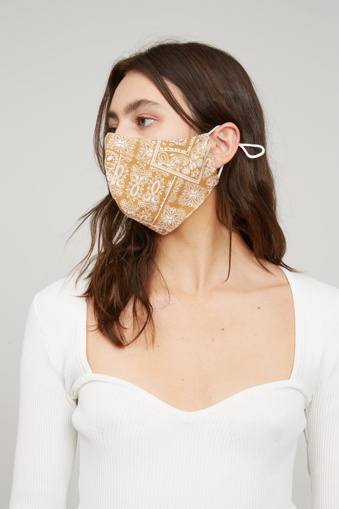 Bandana Face Mask - Tan