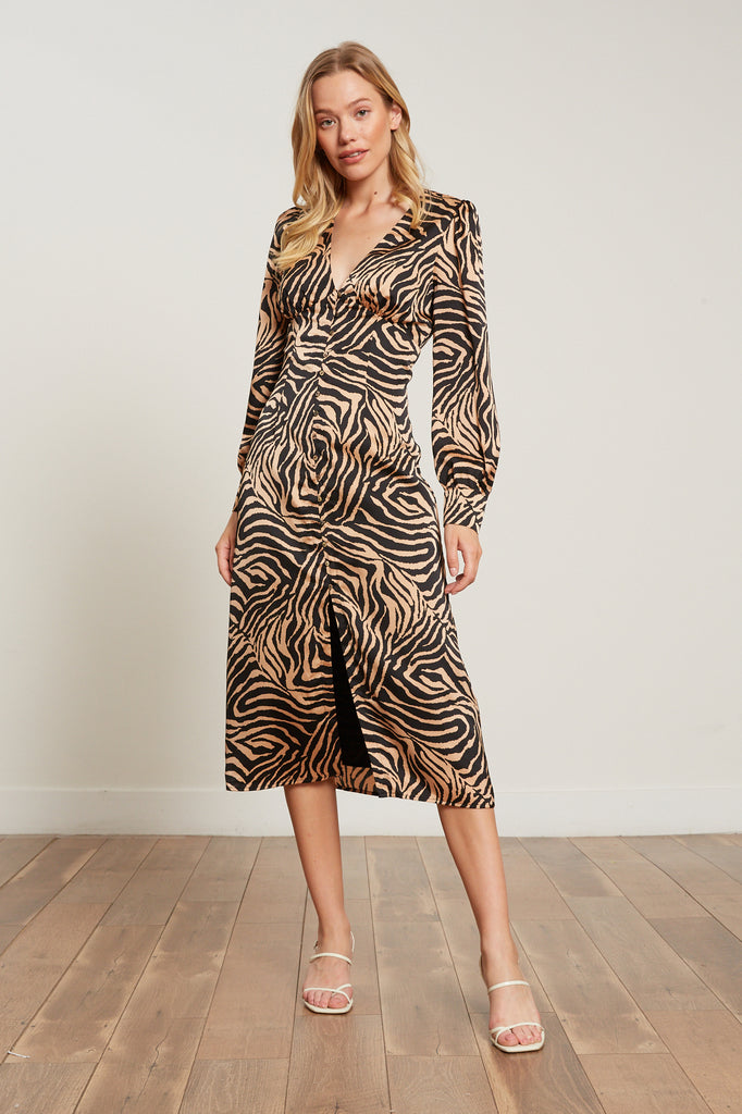 Lucy Paris - Dakota Zebra Print Dress