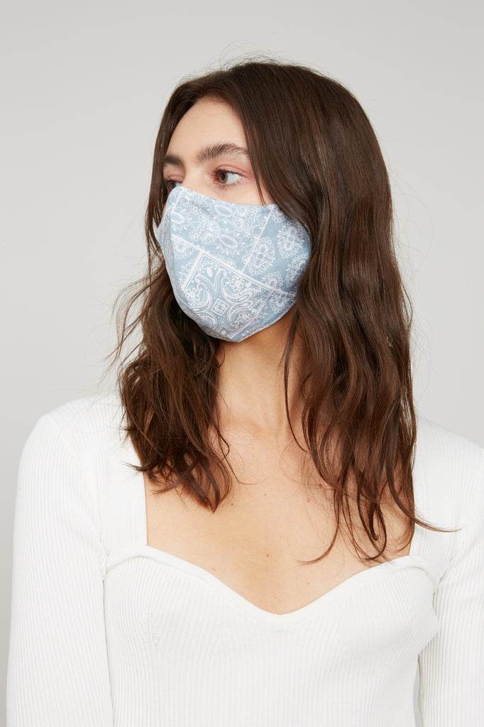 Bandana Face Mask - Light Blue